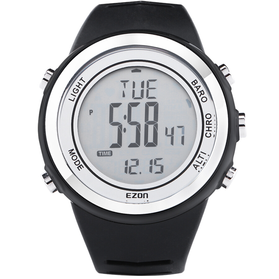 EZON should be outdoor outdoor climbing watch sports multi-functional waterproof electronic table elevation pressure temperature H009A15 black