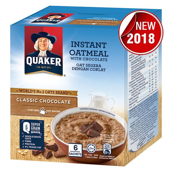 Yến Mạch Ăn Liền Quaker - Vị Chocolate 180g