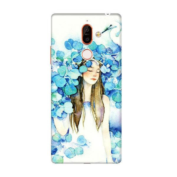 Ốp Lưng Dành Cho Điện Thoại Nokia 7 Plus - Cô Gái Lá Xanh