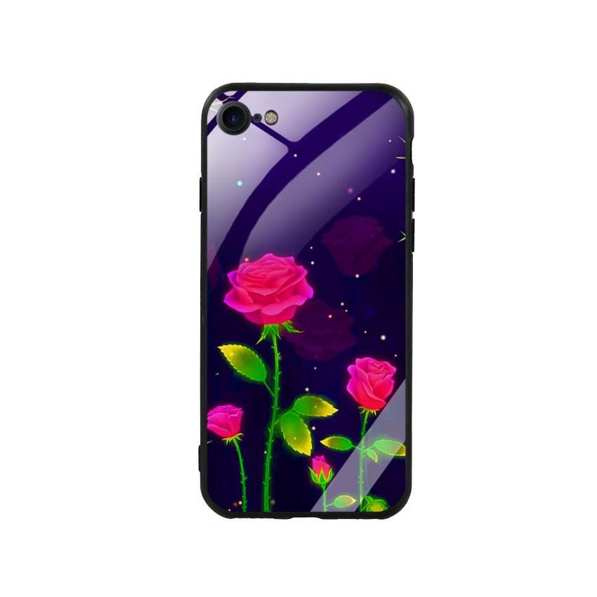 Ốp Lưng Kính Cường Lực cho điện thoại Iphone 7 / 8 - Rose 10