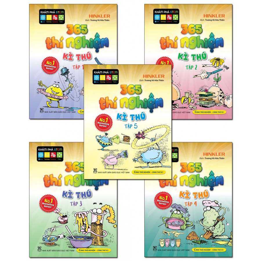 365 Thí Nghiệm Kì Thú - Combo 5 quyển