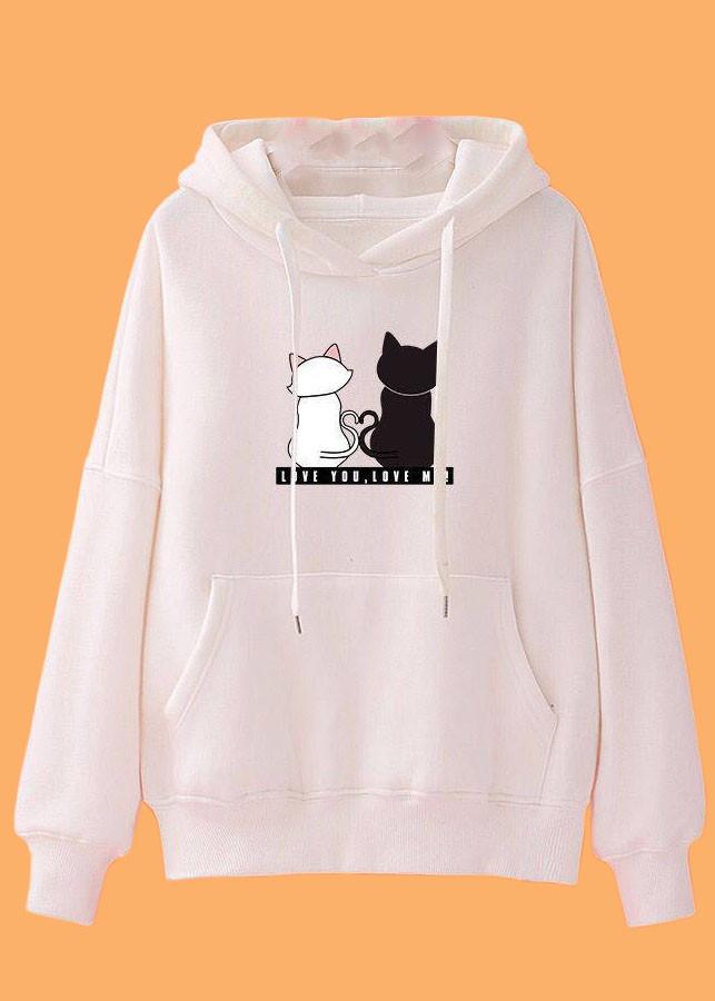 Áo khoác hoodie nữ tay dài hình thú siêu cá tính 0147