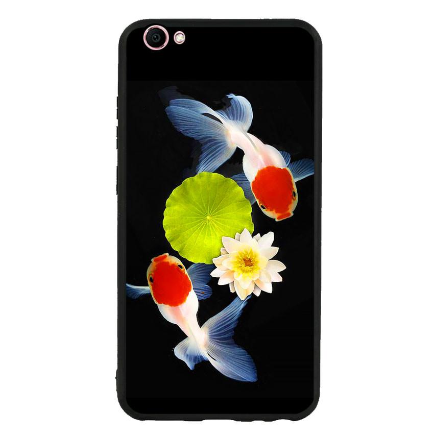 Ốp lưng nhựa cứng viền dẻo TPU cho điện thoại Vivo V5 - Cá Koi 04