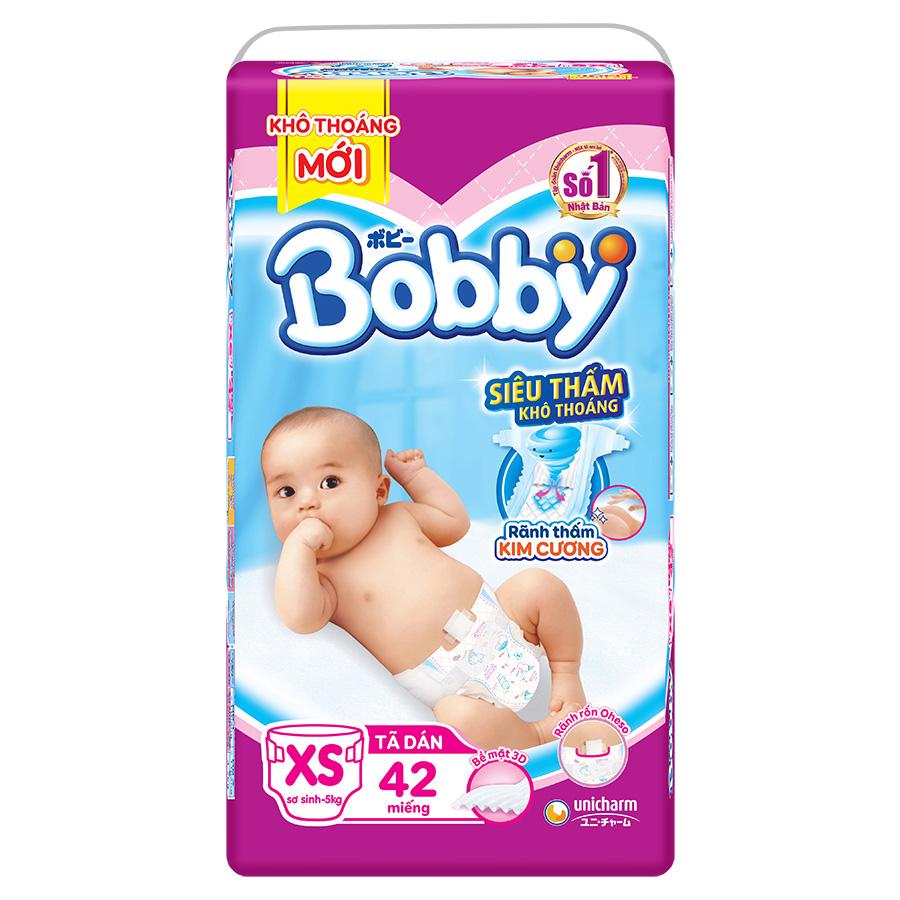 Tã Dán Sơ Sinh Bobby XS42 (42 Miếng) - 773018 , 4170061031681 , 62_10650562 , 130000 , Ta-Dan-So-Sinh-Bobby-XS42-42-Mieng-62_10650562 , tiki.vn , Tã Dán Sơ Sinh Bobby XS42 (42 Miếng)