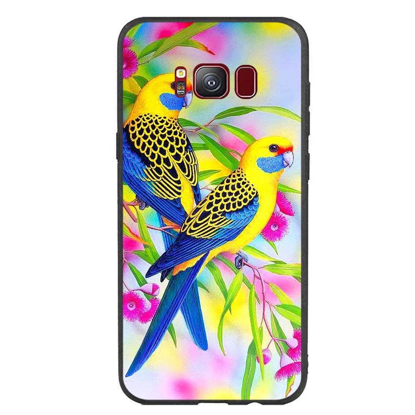 Ốp lưng nhựa cứng viền dẻo TPU cho điện thoại Samsung Galaxy S8 - Couple Bird