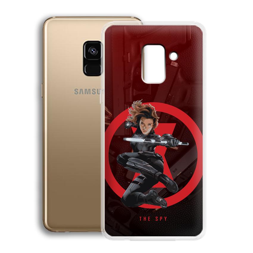 Ốp lưng cho điện thoại Samsung Galaxy A8 2018 Plus - 01032 0538 SPY01 - Silicone dẻo - Hàng Chính Hãng