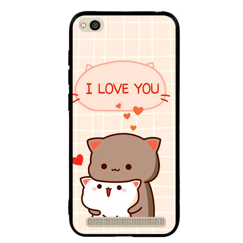 Ốp lưng nhựa cứng viền dẻo TPU cho điện thoại Xiaomi Redmi 5A - I Love U