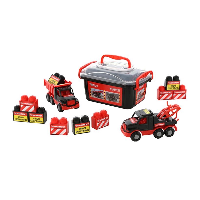 Bộ đồ chơi 2 xe chở hàng MAMMOET kèm hộp đựng – Polesie Toys