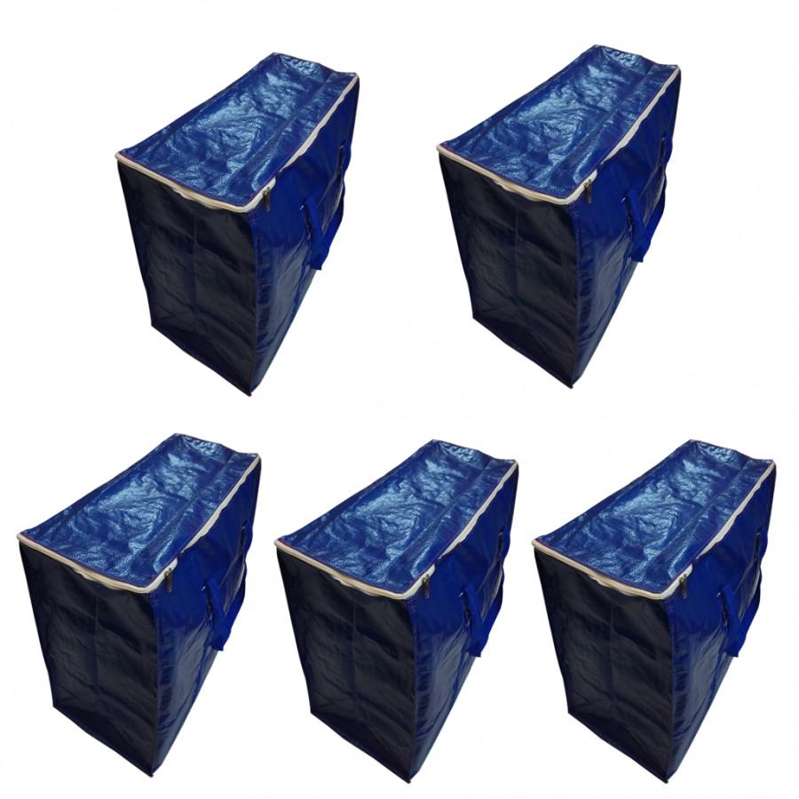 Combo 5 túi bạt đựng hàng hóa, quần áo, chăn màn cỡ đại (75 x 36 x 56 cm)