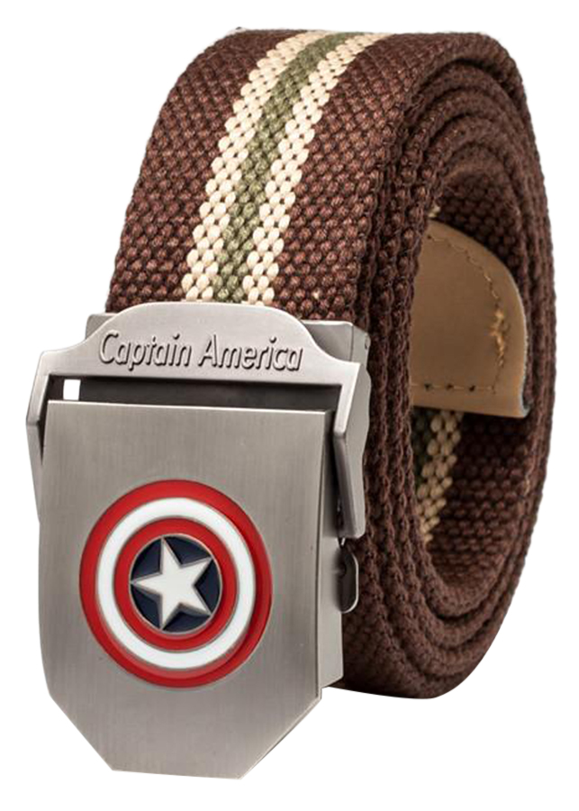 Thắt Lưng Vải Dù Nữ Mặt Khoá Hợp Kim Mặt Captain America - Màu 15