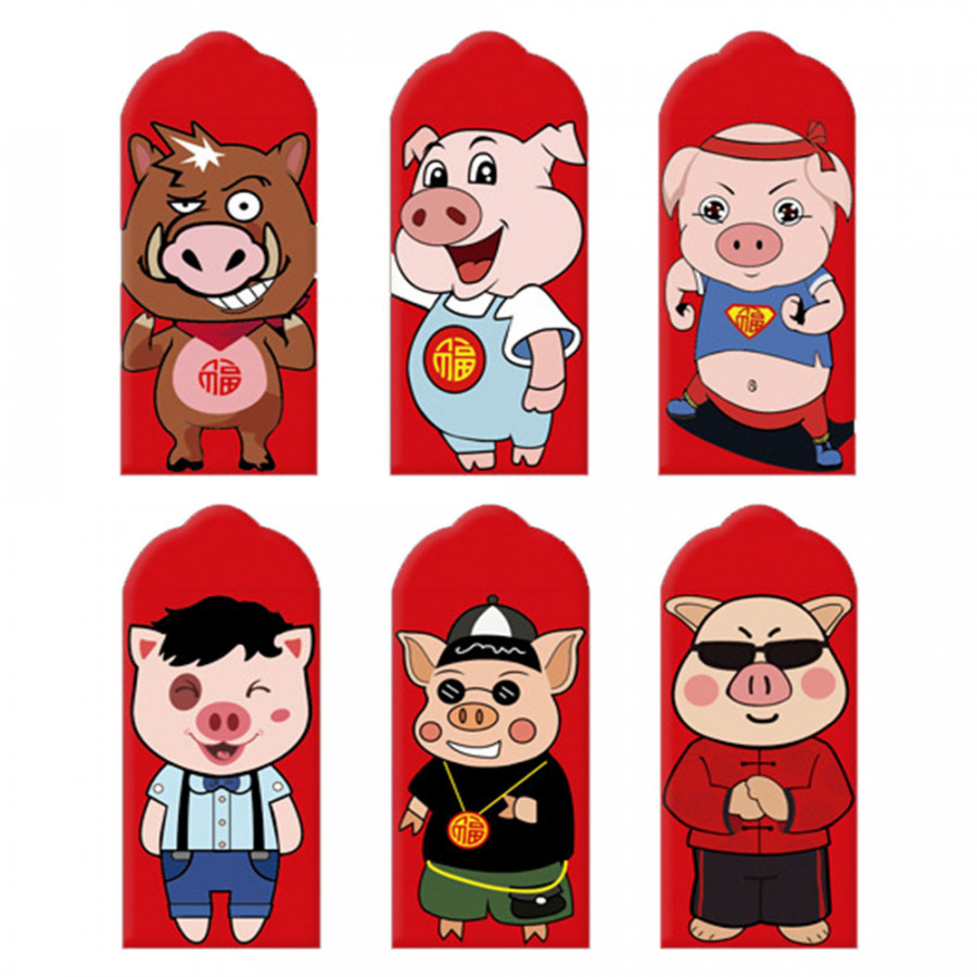 Chinese Red Envelopes Pig Red Envelopes Exquisite 6pcs Pig Money Envelopes Best Wishes - 795051 , 1702704562417 , 62_13187590 , 240000 , Chinese-Red-Envelopes-Pig-Red-Envelopes-Exquisite-6pcs-Pig-Money-Envelopes-Best-Wishes-62_13187590 , tiki.vn , Chinese Red Envelopes Pig Red Envelopes Exquisite 6pcs Pig Money Envelopes Best Wishes