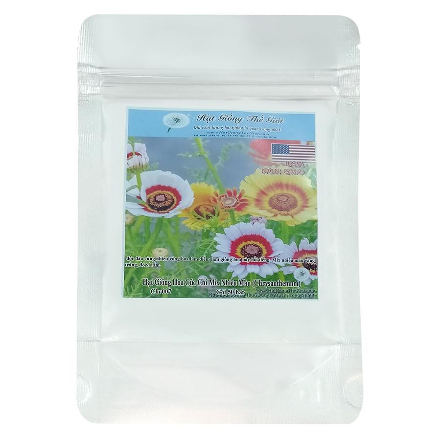 Hạt Giống Hoa Cúc Chi Mix Nhiều Màu - Chrysanthemum (50 Hạt) - 1893922 , 3106043486188 , 62_14516182 , 30750 , Hat-Giong-Hoa-Cuc-Chi-Mix-Nhieu-Mau-Chrysanthemum-50-Hat-62_14516182 , tiki.vn , Hạt Giống Hoa Cúc Chi Mix Nhiều Màu - Chrysanthemum (50 Hạt)