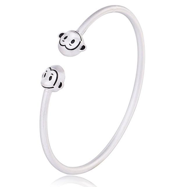 Lắc tay bạc thái 2 con khỉ LT011