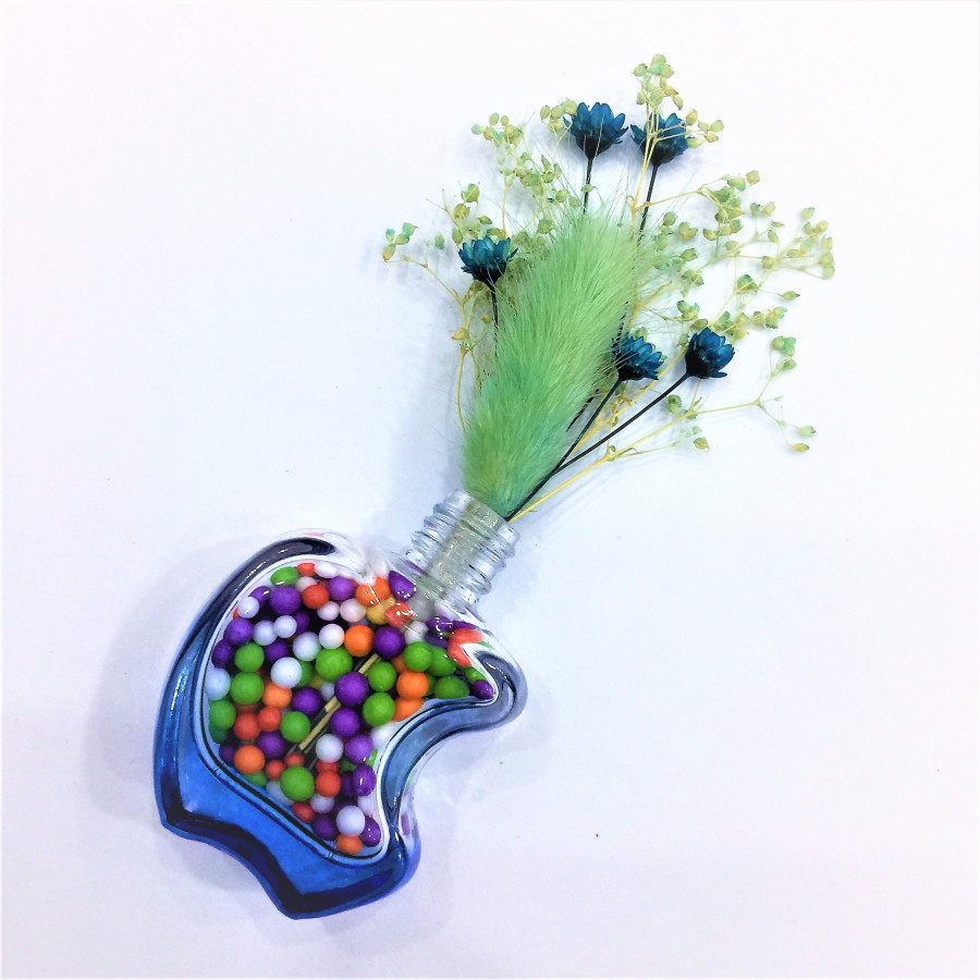 Bộ lọ và hoa khô mini đáng yêu - 0034