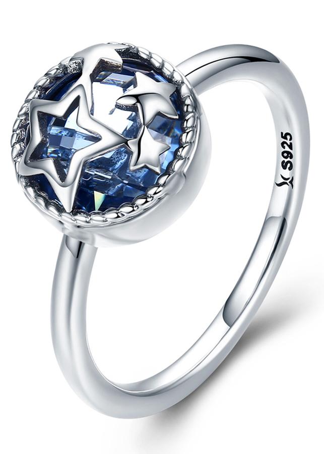 Nhẫn Bạc Nữ Mirason Silver  Gems 925 Ngôi Sao Xanh