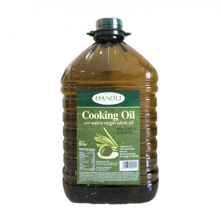 Dầu Rán Oliu Hanoli Cooking Oil With Extra Virgin Olive Oil (5 Lít) - 1324669 , 9320336180032 , 62_5366733 , 930000 , Dau-Ran-Oliu-Hanoli-Cooking-Oil-With-Extra-Virgin-Olive-Oil-5-Lit-62_5366733 , tiki.vn , Dầu Rán Oliu Hanoli Cooking Oil With Extra Virgin Olive Oil (5 Lít)
