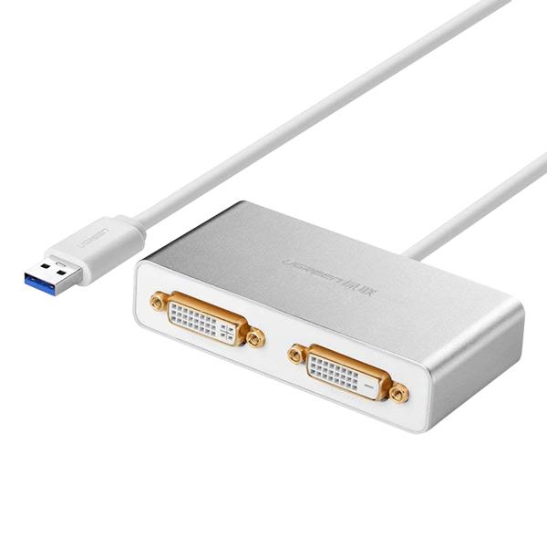 Dây Cáp Chuyển Đổi USB 3.0 Ra 2 Cổng DVI Ugreen 40246 - 1064197 , 2294016184771 , 62_3708501 , 1839000 , Day-Cap-Chuyen-Doi-USB-3.0-Ra-2-Cong-DVI-Ugreen-40246-62_3708501 , tiki.vn , Dây Cáp Chuyển Đổi USB 3.0 Ra 2 Cổng DVI Ugreen 40246