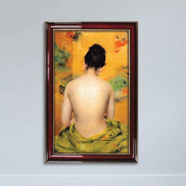 Tranh Trang Trí Phòng Ngủ Bán Nude Gỗ MDF W1147