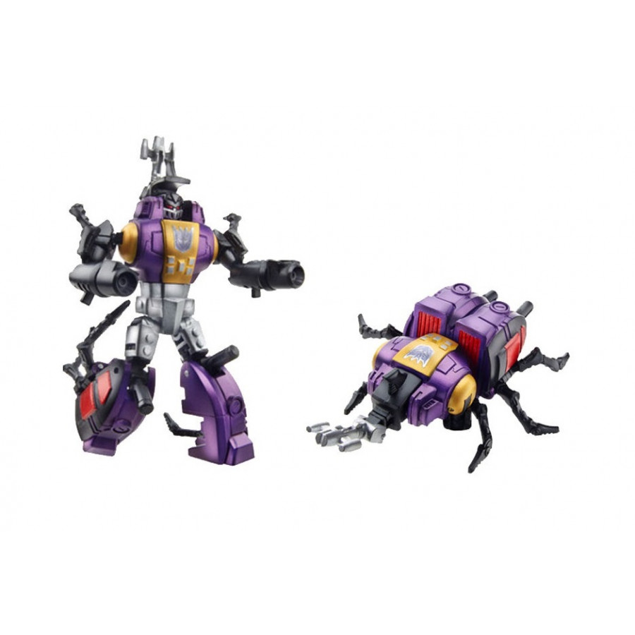 Mô hình Robot 10cm màu tím lắp ráp thành con bọ cánh cứng