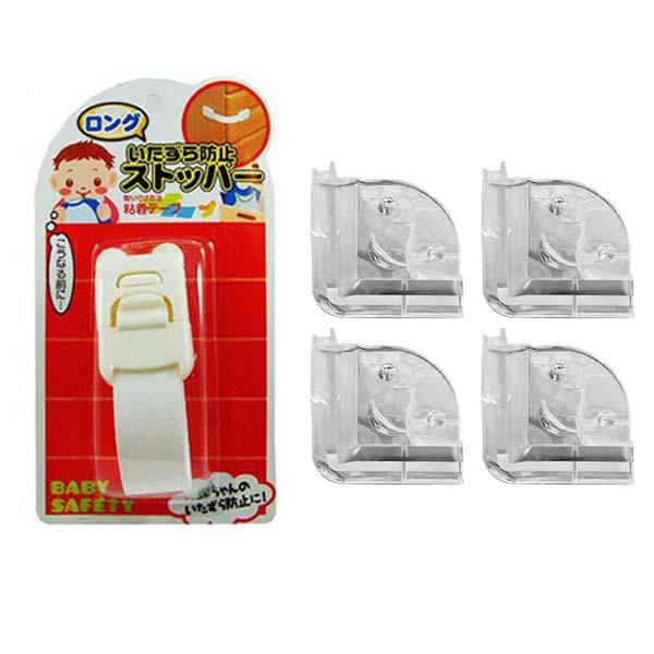 Combo Khóa ngăn kéo, tủ lạnh trẻ em (mẫu mới) + Set 4 bịt cạnh bàn silicon nội địa Nhật Bản - 1143888 , 8249969147537 , 62_4459543 , 178000 , Combo-Khoa-ngan-keo-tu-lanh-tre-em-mau-moi-Set-4-bit-canh-ban-silicon-noi-dia-Nhat-Ban-62_4459543 , tiki.vn , Combo Khóa ngăn kéo, tủ lạnh trẻ em (mẫu mới) + Set 4 bịt cạnh bàn silicon nội địa Nhật Bản