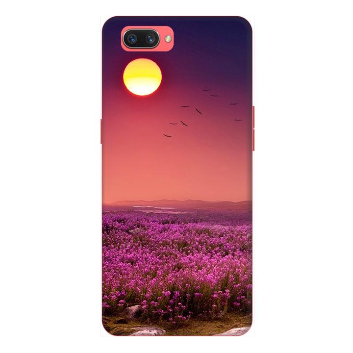 Ốp lưng điện thoại Realme C1 hình Hoa Tím Hoàng Hôn