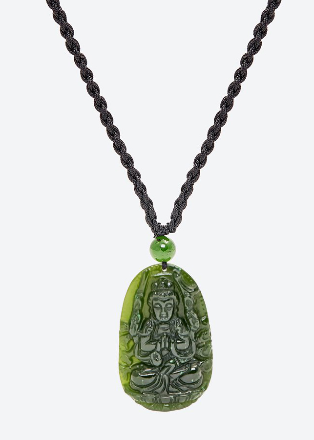 Mặt dây chuyền thiên thủ thiên nhãn bồ tát đá ngọc bích Ngọc Quý Gemstones