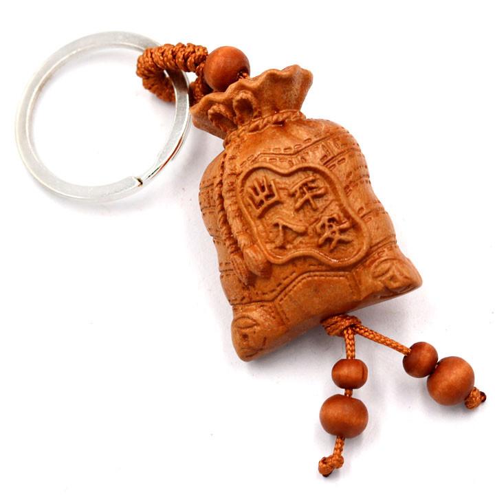 Combo 3 móc khóa túi tiền khắc chữ Phúc 1A