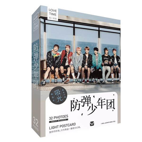 Postcard BTS bản dạ quang