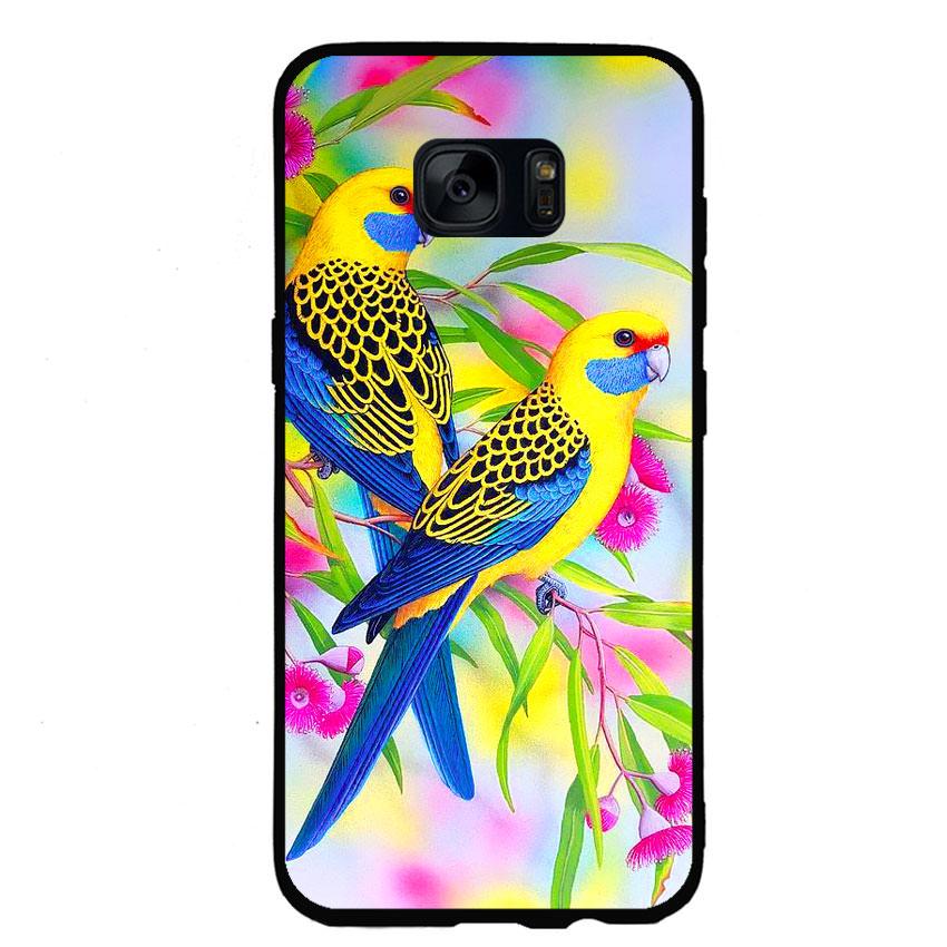 Ốp lưng nhựa cứng viền dẻo TPU cho điện thoại Samsung Galaxy S6 - Couple Bird