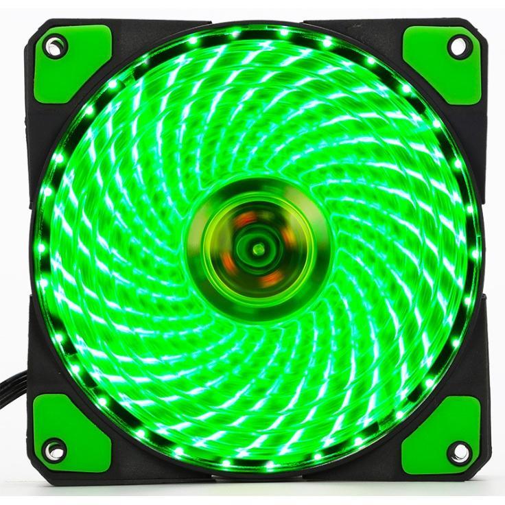 Tản Nhiệt Fan Case 12cm LED 33 Bóng Xanh 2