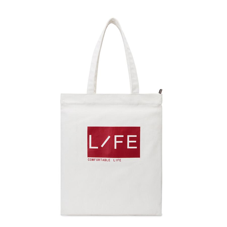 Senma Semir shoulder bag student shopping comfortable life canvas bag (white)