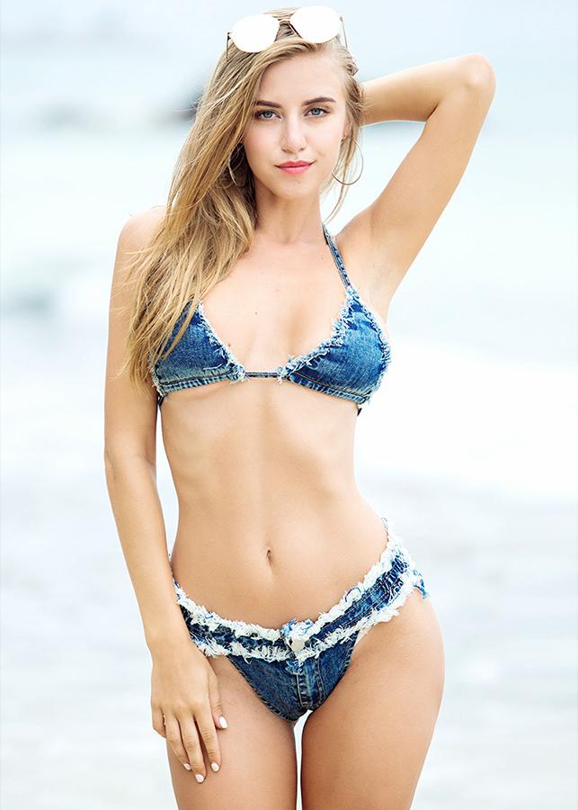 Bộ bikini denim BKN 8308
