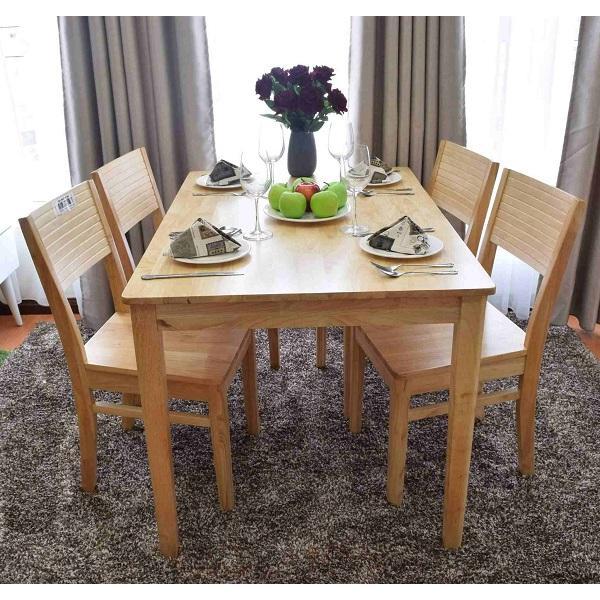 Bộ bàn ăn cherry 4 ghế (tự nhiên) OHAHA