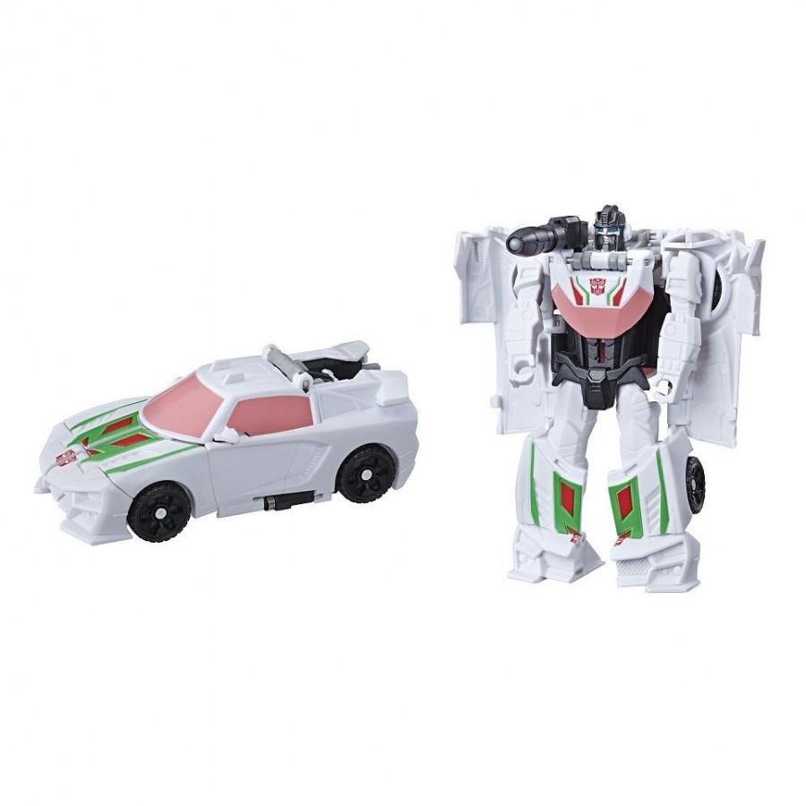 Mô hình xe ôtô màu trắng 3 bước biến hình thành robot