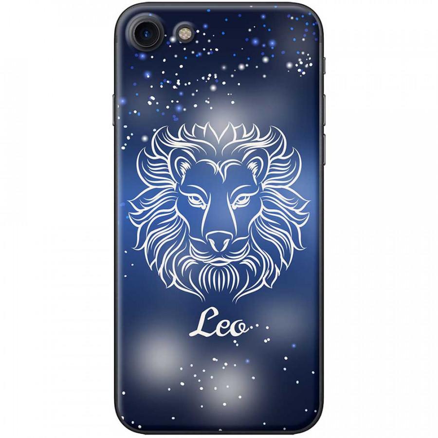 Ốp lưng  dành cho iPhone 7, iPhone 8 mẫu Cung hoàng đạo Leo (xanh)