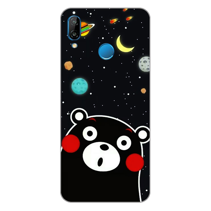 Ốp lưng dẻo Nettacase cho điện thoại Huawei Nova 3e_0345 BEAR03 - Hàng Chính Hãng