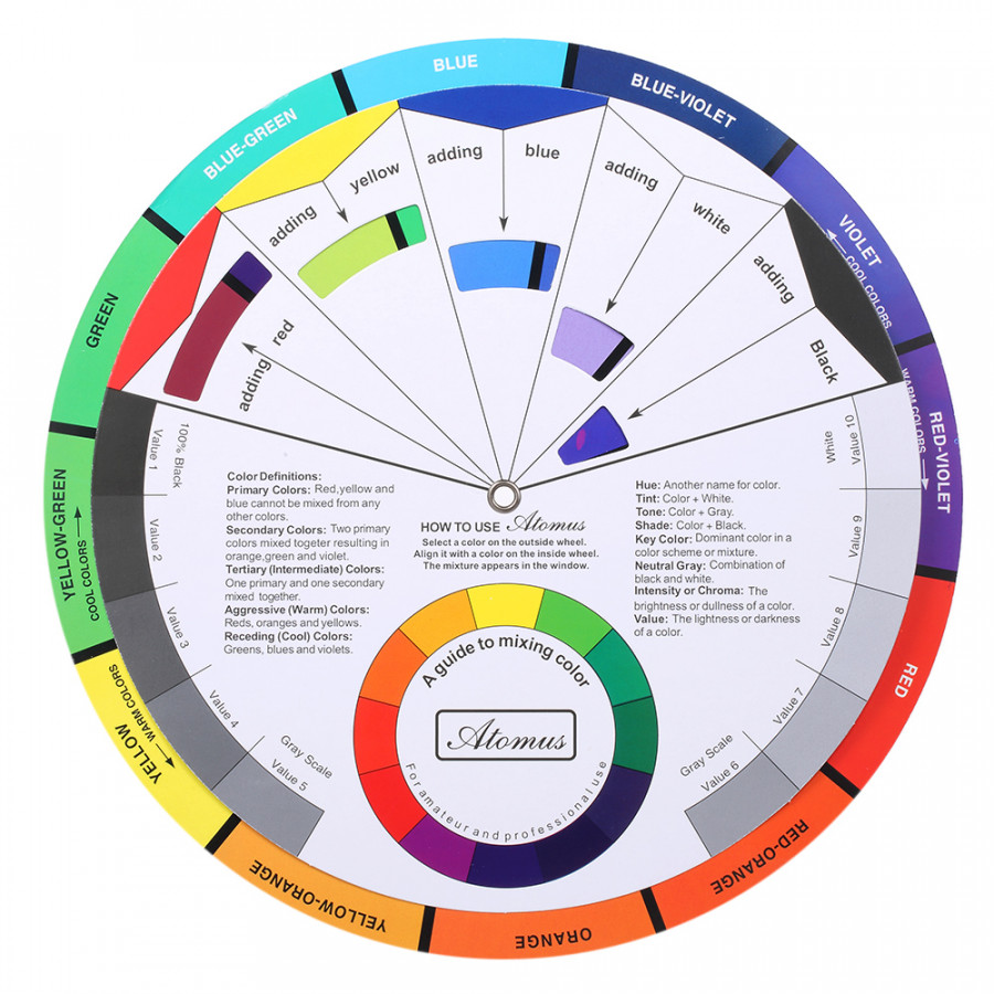 Tattoo Pigment Color Wheel Chart Color Mix Guide Supplies for Permanent Eyebrow Eyeliner Lip Tattooing - 1870356 , 9755530656593 , 62_14206860 , 235000 , Tattoo-Pigment-Color-Wheel-Chart-Color-Mix-Guide-Supplies-for-Permanent-Eyebrow-Eyeliner-Lip-Tattooing-62_14206860 , tiki.vn , Tattoo Pigment Color Wheel Chart Color Mix Guide Supplies for Permanent Ey