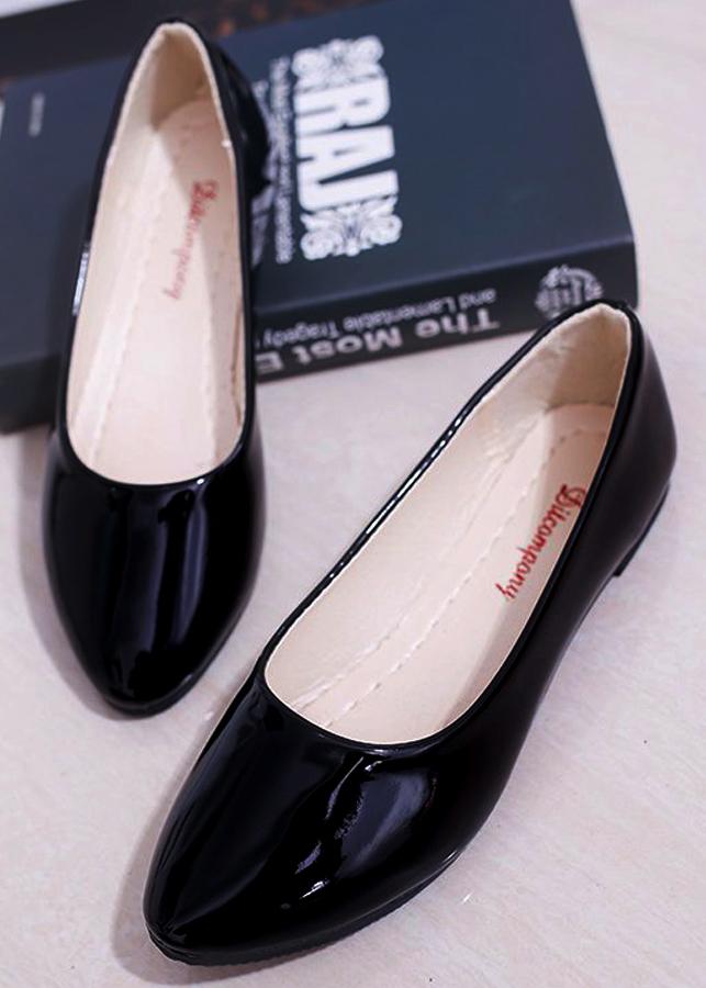 Giày búp bê da bóng mềm dáng chuẩn -309