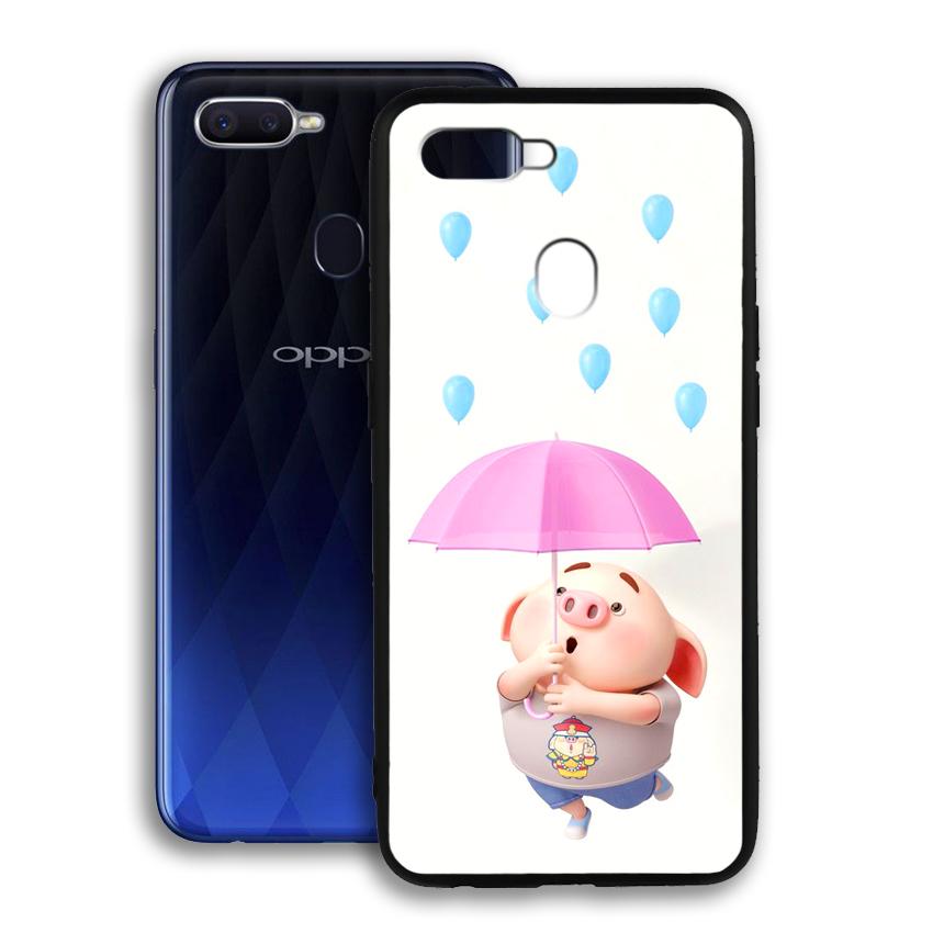Ốp lưng viền TPU cho điện thoại Oppo F9 - 02064 0523 PIG26 - Hàng Chính Hãng