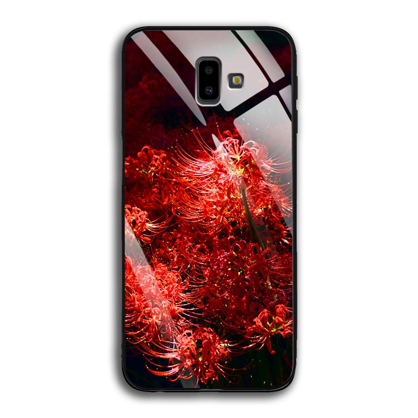Ốp Lưng Kính Cường Lực cho điện thoại Samsung Galaxy J6 Plus - 03015 0592 HOABINGAN03 - In hình Hoa Bỉ Ngạn - Hàng Chính...