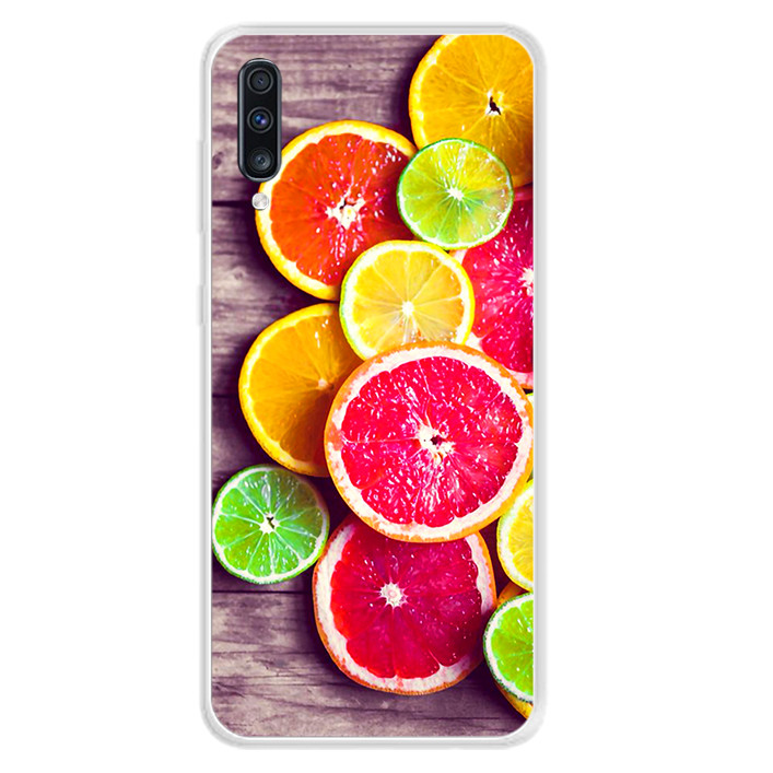 Ốp lưng dẻo cho điện thoại Samsung Galaxy A70 - 0104 ORANGE02 - Hàng Chính Hãng