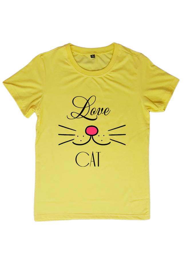 Áo Thun Nữ In Họa Tiết Love Cat Áo Hạnh Phúc - 2093263 , 4868041796179 , 62_12656767 , 85000 , Ao-Thun-Nu-In-Hoa-Tiet-Love-Cat-Ao-Hanh-Phuc-62_12656767 , tiki.vn , Áo Thun Nữ In Họa Tiết Love Cat Áo Hạnh Phúc