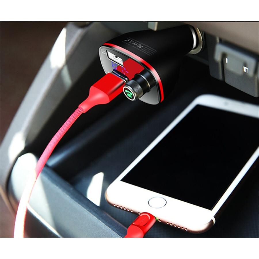 Sạc Điện Thoại Trên Xe Hơi Hai Cổng USB 3.4A ROCK