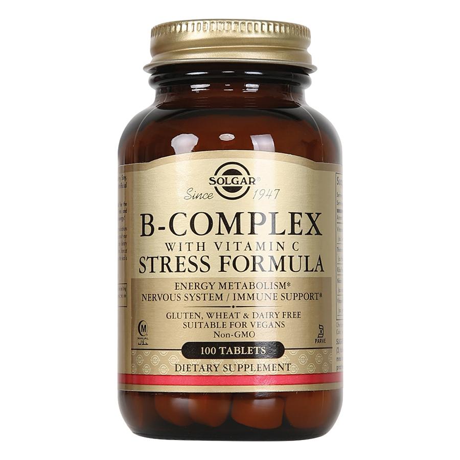 Thực Phẩm Bảo Vệ Sức Khỏe Solgar B - Complex With Vitamin C Stress Formula (100 Viên Nén)