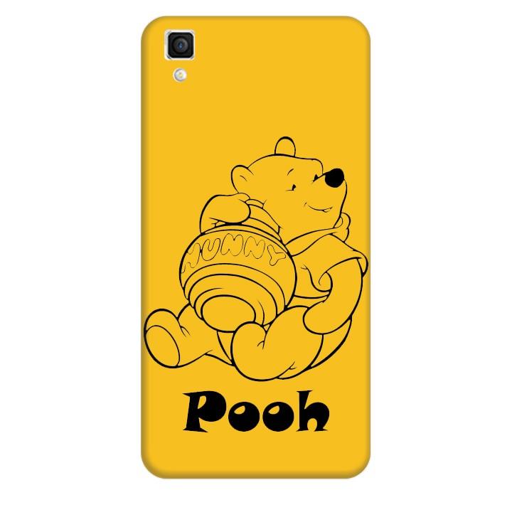 Ốp lưng nhựa cứng nhám dành cho OPPO R7S in hình Pooh