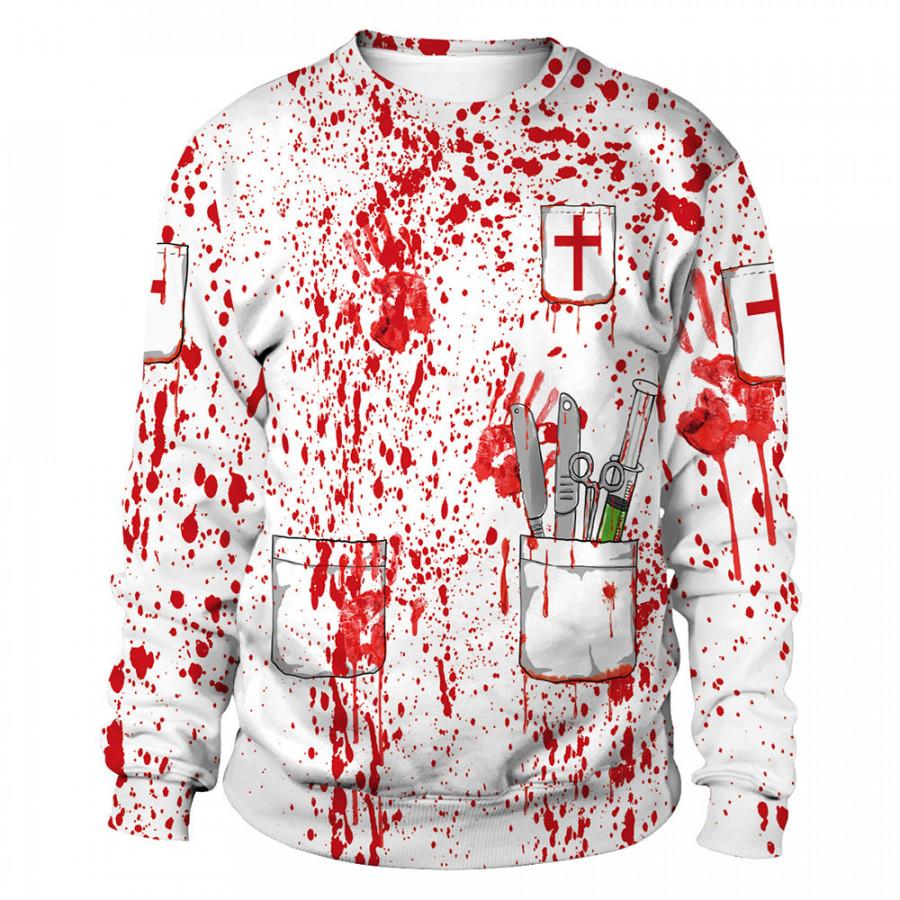 Halloween Hoodies Halloween Sweatshirt Soft Pullover Polyester Halloween Women
