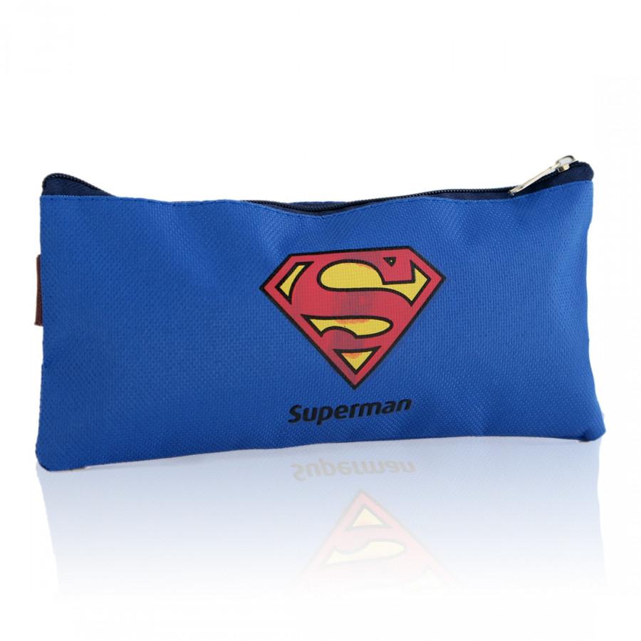 Túi Vải Oxford Superman Đựng Bút (Size L)