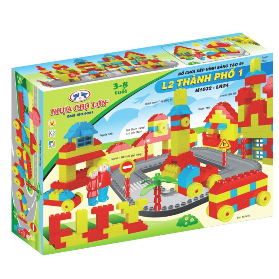 Bộ đồ chơi xếp hình sáng tạo 24 (L2-Thành Phố 1) - M1032-LR
