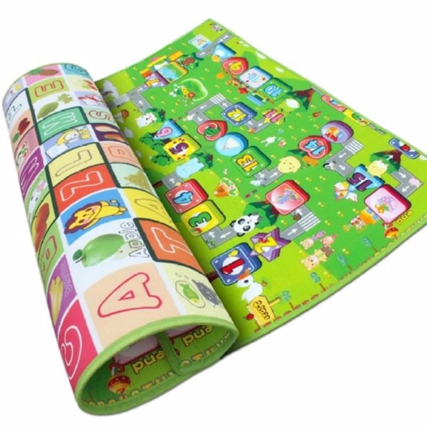 Thảm nằm chơi 2 mặt tiện dụng đa màu sắc cho bé (giao màu ngẫu nhiên)