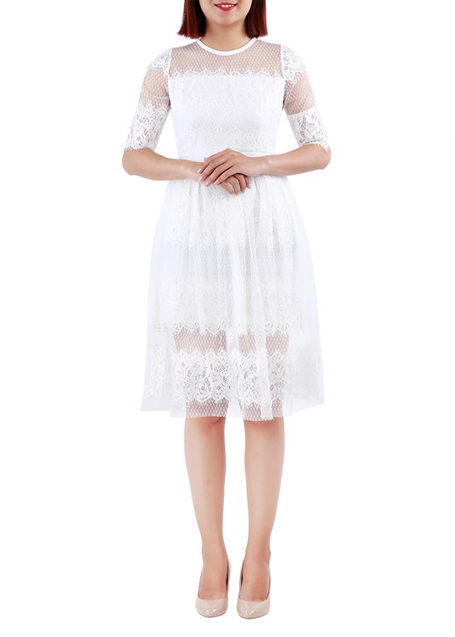 Đầm Nữ Xòe Ren Phối Lưới Pesy Dress - 1063009 , 9759637097358 , 62_6535883 , 420000 , Dam-Nu-Xoe-Ren-Phoi-Luoi-Pesy-Dress-62_6535883 , tiki.vn , Đầm Nữ Xòe Ren Phối Lưới Pesy Dress